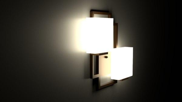 3D modern wall sconce
