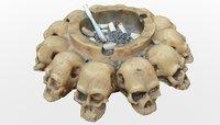 3D skull ash tray