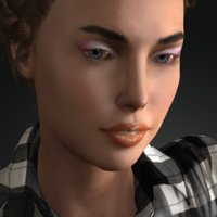 realistic carin cw 3D model