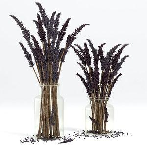 lavender bouquet 3D
