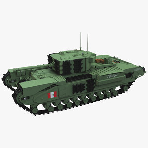 3D infantry tank churchill mark iv