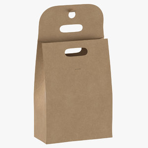 recycled paper bags 02 3D model