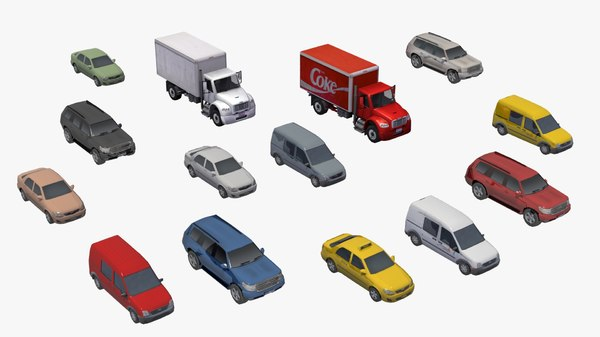 urban vehicles delivery truck 3D model