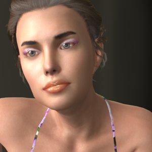 3D model realistic carin bw