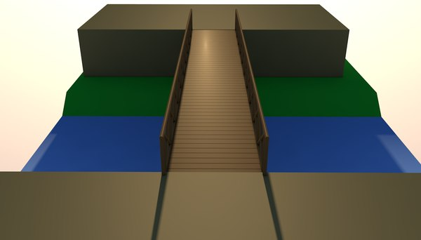 bridge infrastructure structure 3D model