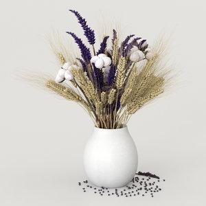 dried flower cotton 3D
