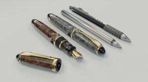 3D pens pencils writing model