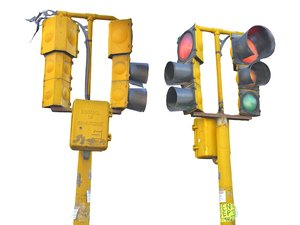 stop lights mexico 3D