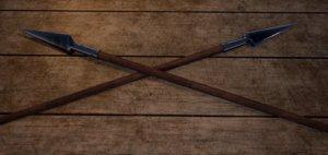 fantasy medieval spear model