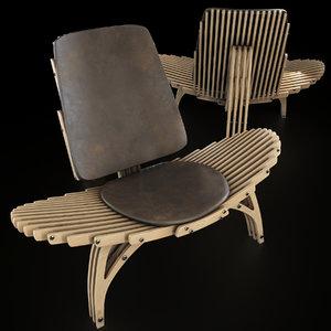 parametric chair 3D model