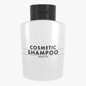 3D model shampoo bottle