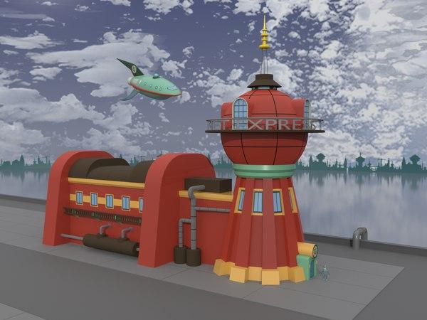 cartoon futurama bender 3D model