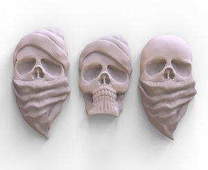 3D stylized skulls printing