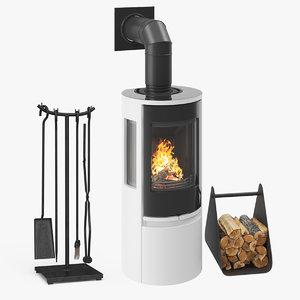 fireplace contura 556 02 3D model