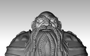 warcraft dwarf king model