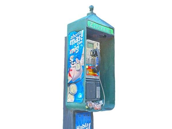 3D telephone box mexico