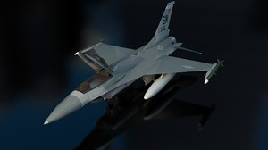 f-16c fighting falcon aircraft 3D model