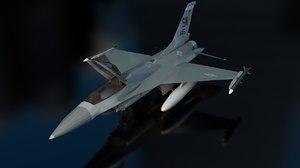 f-16c fighting falcon aircraft 3D model
