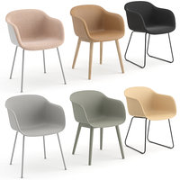 chairs fiber armchair muuto 3D model