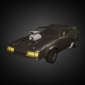 3D polycar n16 popculture pack model