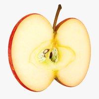 3D realistic slice apple