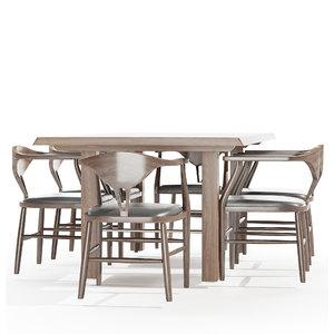 dining table peking b 3D