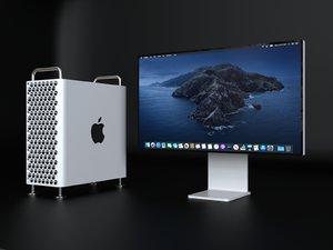 3D apple mac pro xdr