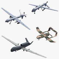 uav drone mq1 3D model