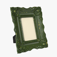 3D realistic baroque picture frame model