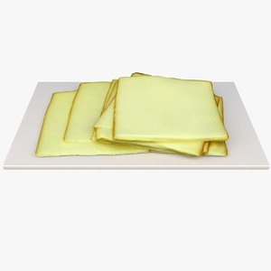 3D model sliced cheese