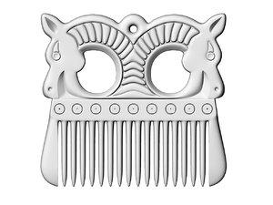 3D viking comb model