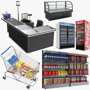 3D real supermarket