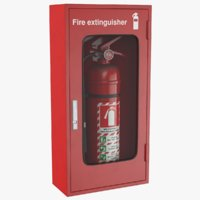 3D real extinguisher box