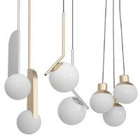 3D pendants set 3 -