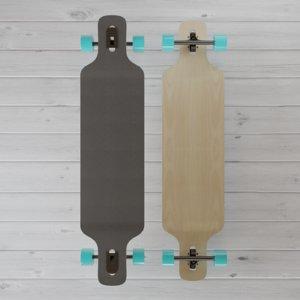 3D longboard