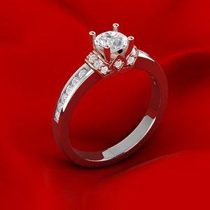 engagement ring gems 3D model
