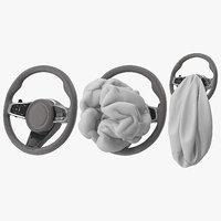 3D steering wheel airbag animation