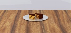 chocolate cake slice 3D model