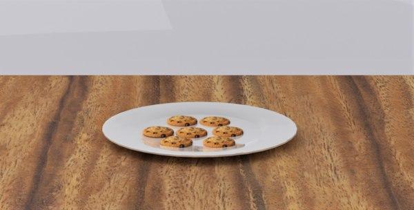 cookie food biscuit 3D model