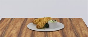 3D corn potato dip model