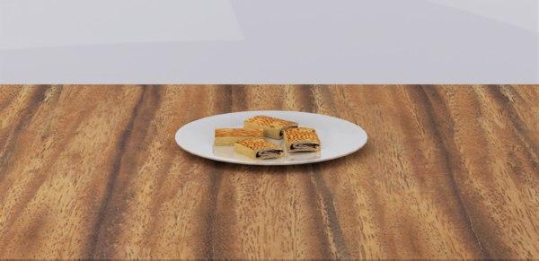 date biscuits 3D model