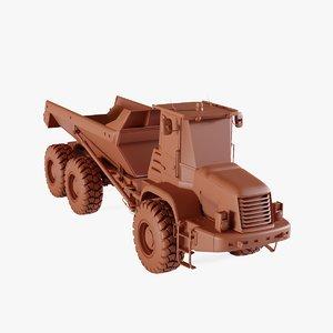 3D model articulated dump truck