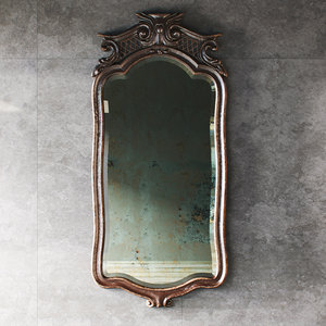 antique carved mirror 3D model