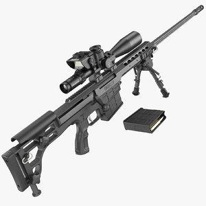 3D barrett 98b sniper rifle
