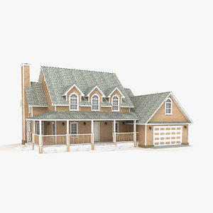 two-story cottage 89 3D model