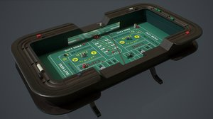 pbr craps table 3D model