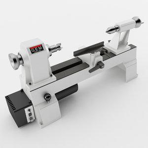 3D variable speed mini lathe model