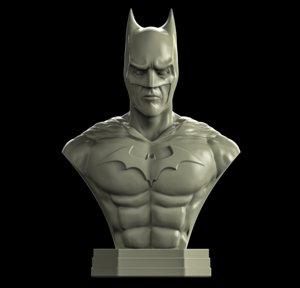 batman modelled bust 3D