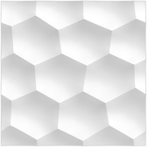 wall panel honeycomb large 3D