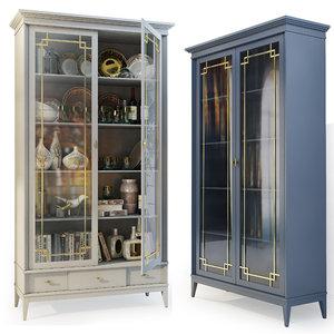 cabinet glass door showcase 3D model
